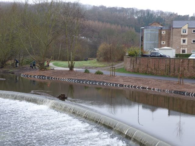 Riverbank strengthening by the Environment Agency January 2020 Hopping Mill Meadow Milford